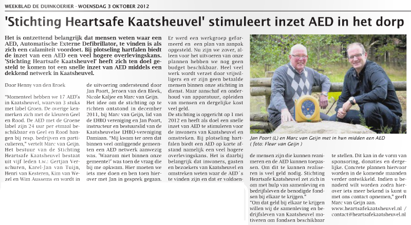 Artikel Duinkoerier 03.10.2012, pagina 7