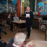 Voorzitter Henri van Kesteren vertelt een en ander over onze doelstelling en hoe we die willen bereiken.